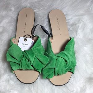 Zara Leather Sandals Size 39/8